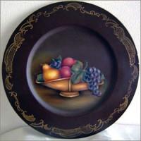 フルーツの絵皿