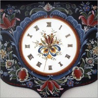 ローズモリングの時計(拡大)