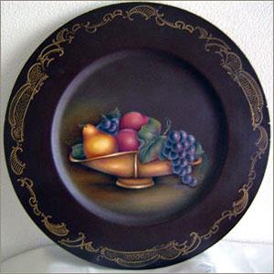 フルーツの絵皿(オイル)
